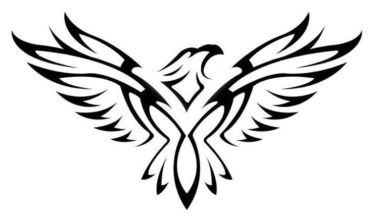 Simple Hawk Drawing