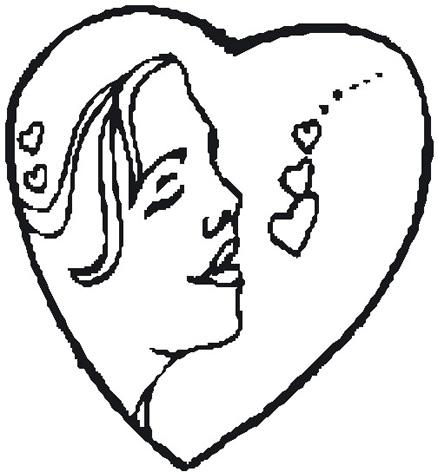 438x472 Drawn Love Love Heart