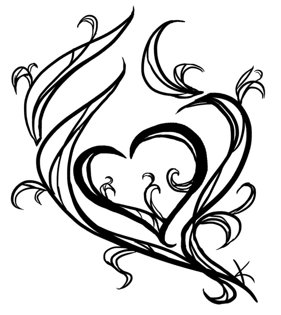 912x1024 Simple Drawing Ideas Simple Heart Drawings Clipartsco