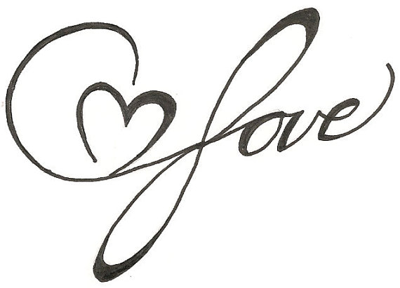 570x411 Charming Simple Heart Drawing