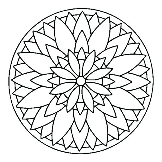 570x570 Simple Heart Mandala Coloring Pages Expert Mandala Coloring Pages