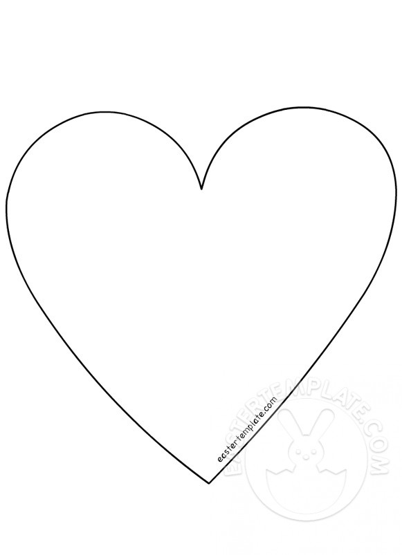 581x803 Simple Heart Shape Easter Template