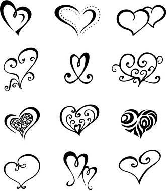 332x380 Tonikum Bayer Simple Heart Tattoos Designs