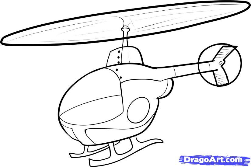 825x549 Drawn Helicopter