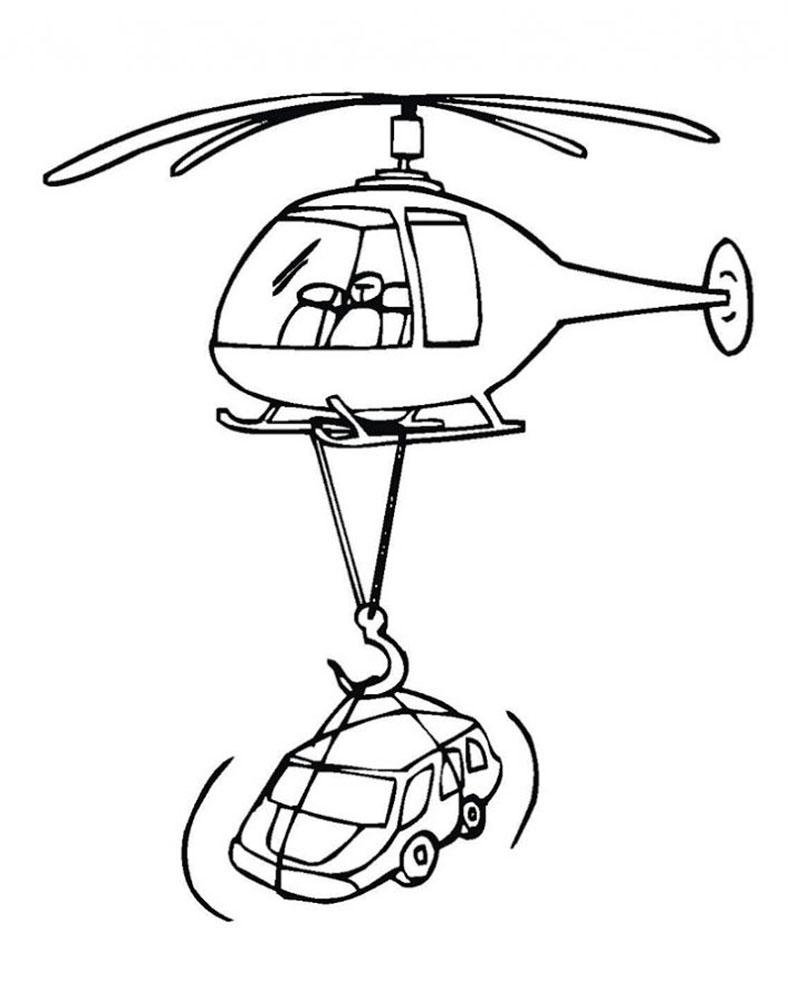 788x1000 Helicopter Coloring Pages