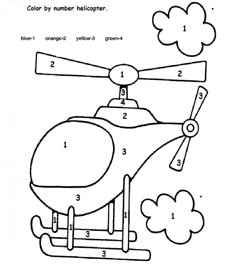 768x922 Color By Number Helicopter Crafts And Worksheets For Preschool