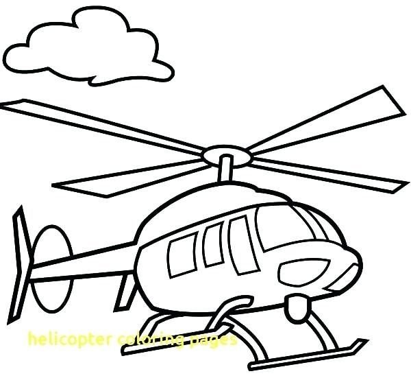600x551 Helicopter Coloring Page