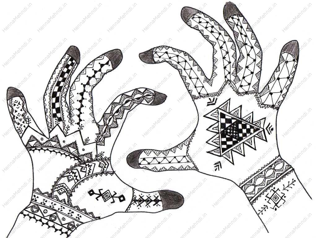 Simple Henna Drawing at GetDrawings.com | Free for personal use ...
