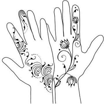 Simple Henna Drawing At Getdrawings Com Free For Personal Use