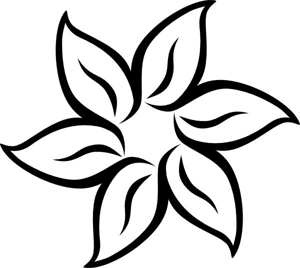 600x536 Pictures Simple Drawings Of Flowers,