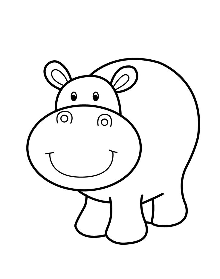 736x935 Hippo Animal Coloring Pages Free African