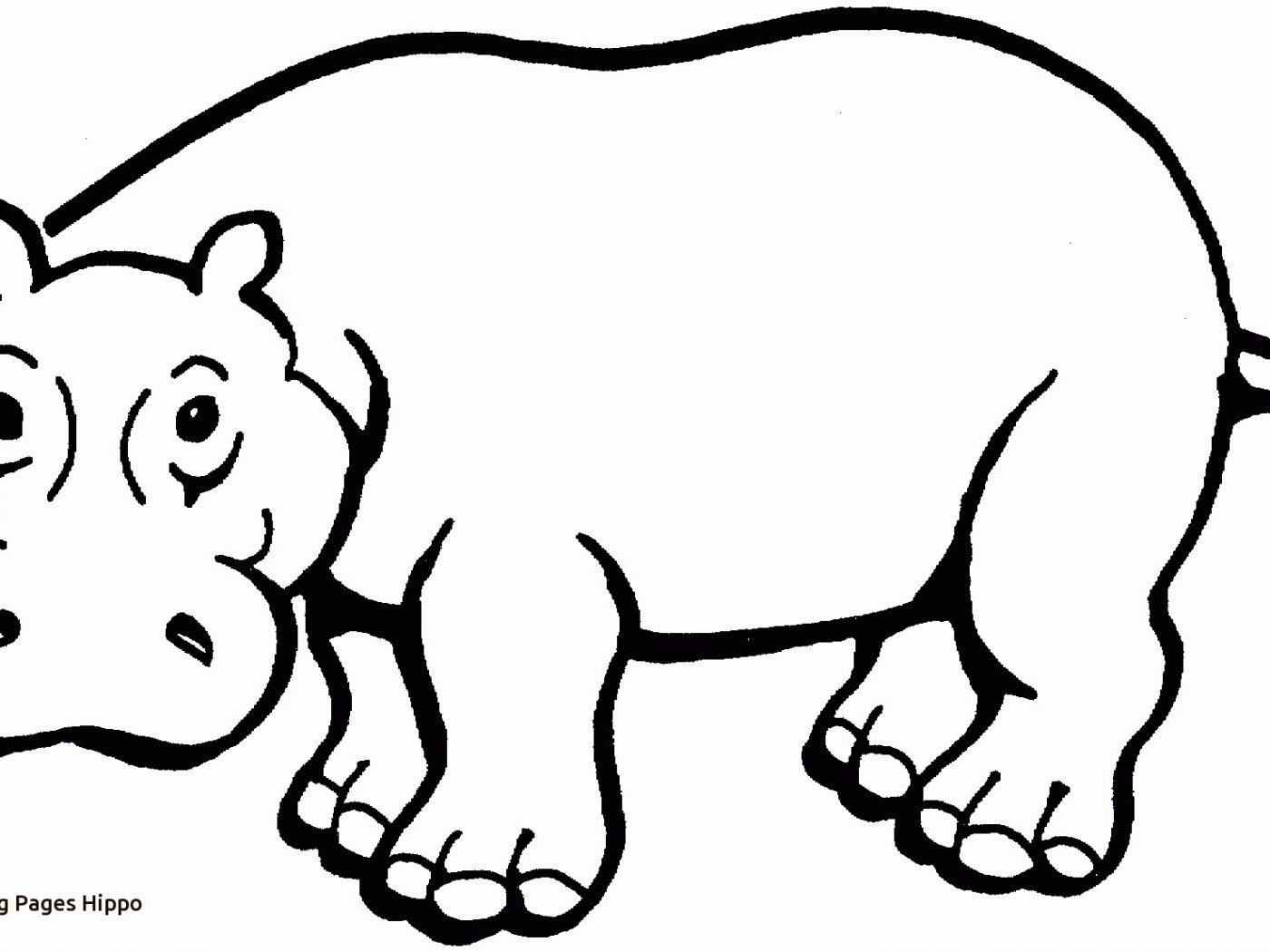 1400x1050 Hippo Hula Coloring Pages Sing For Kids Hippogriff To Print