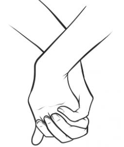 255x302 How To Draw Holding Hands, Step By Step, Hands, People, Free