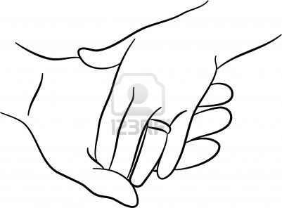 401x296 Holding Hands Line Sketch Black And White