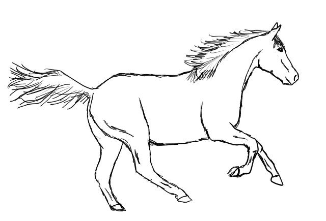 Simple Horse Drawing At Getdrawings Com Free For Personal Use