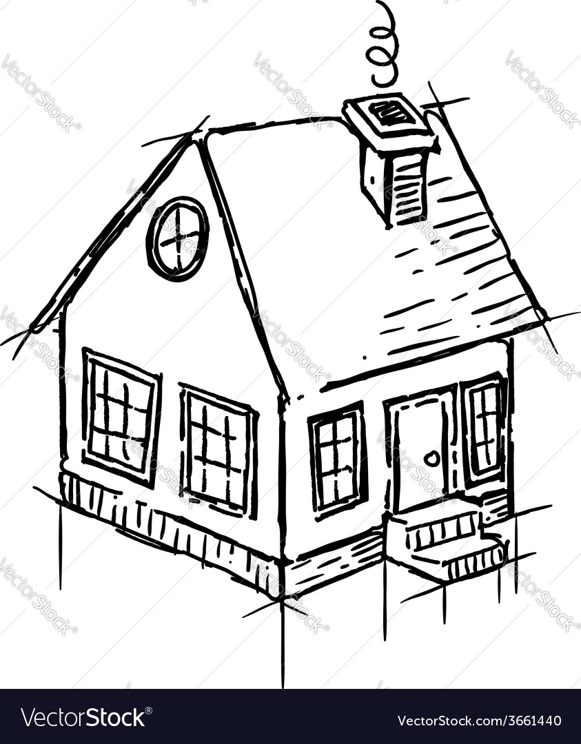 843x1080 Drawing Of A Small House Simple House Drawing Modern House