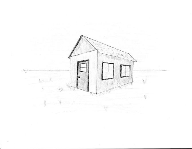 670x518 Draw A Simple House Simple House And House
