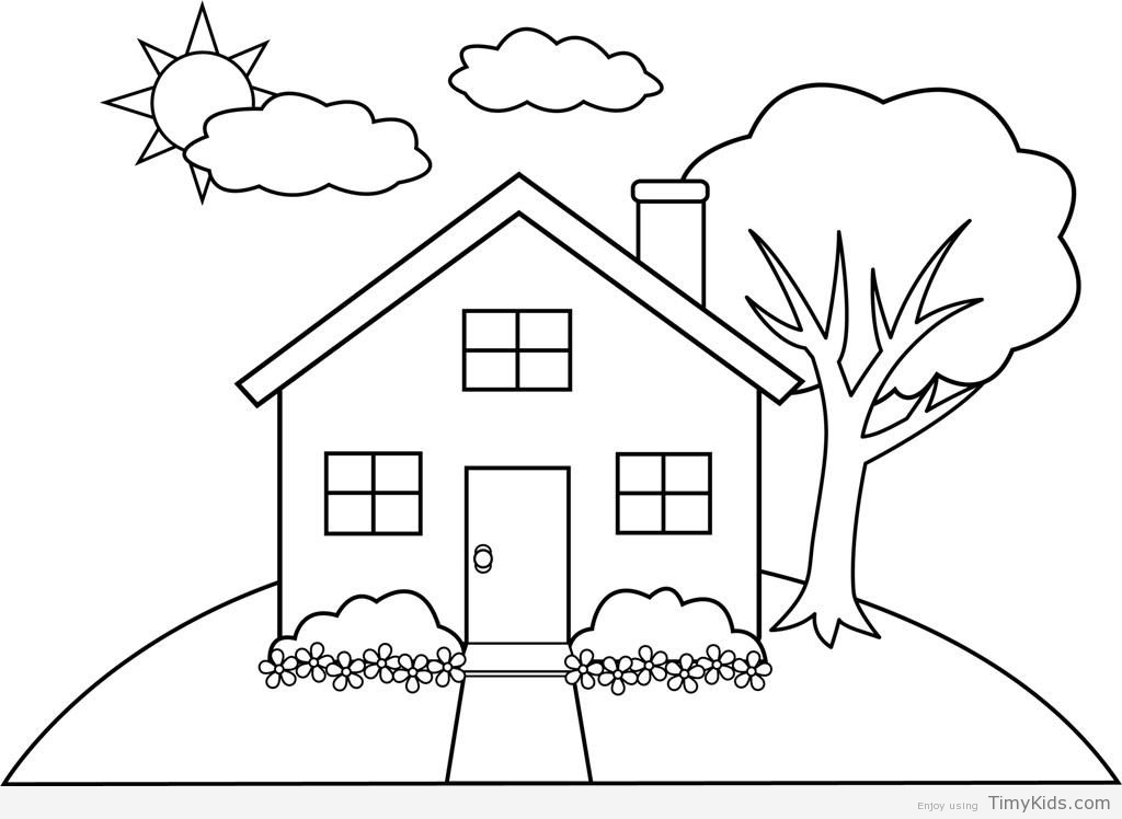 Simple House Drawing For Kids at PaintingValley.com ...
