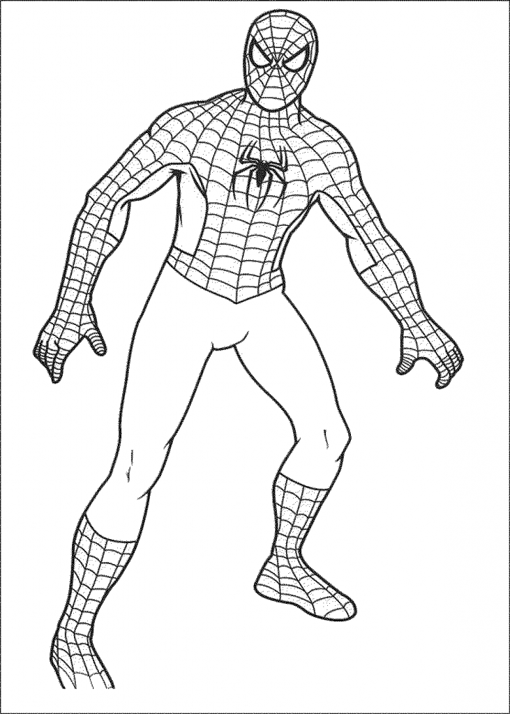 731x1024 Coloring Pages Spiderman Drawings For Kids Spiderman Drawings