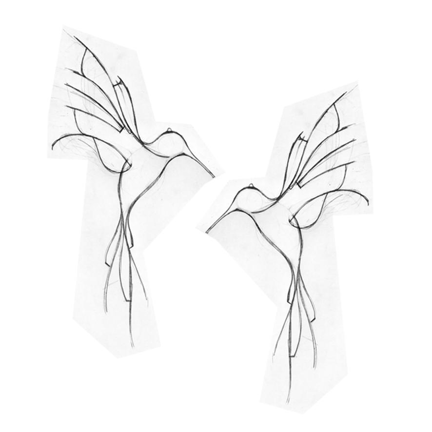 Simple Hummingbird Drawing