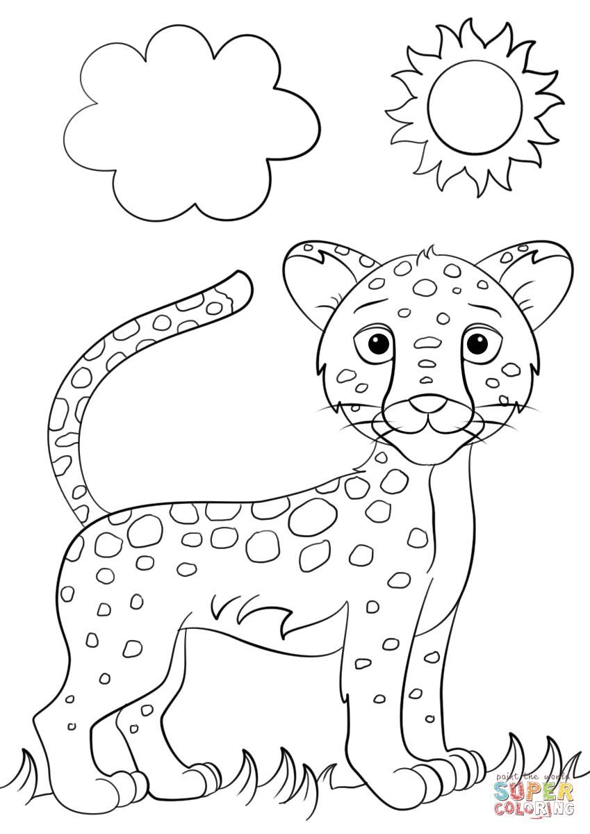 Simple Jaguar Drawing at GetDrawings | Free download