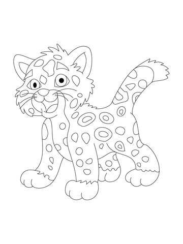 Simple Jaguar Drawing at GetDrawings Free for