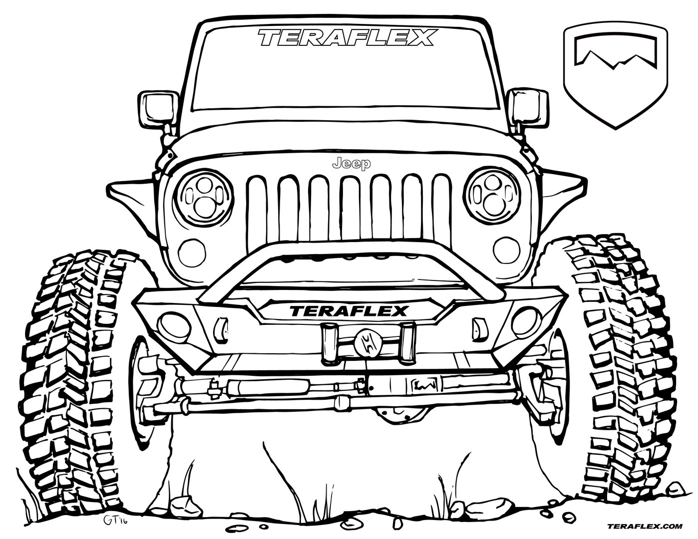 1398x1080 Coloring Jeep Collection