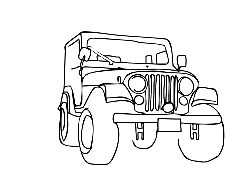 Simple Jeep Drawing at GetDrawings.com | Free for personal use ...