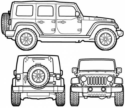 500x430 Jeep Wrangler Unlimited (2007) Voor Kamer Boet Jeep Coloring