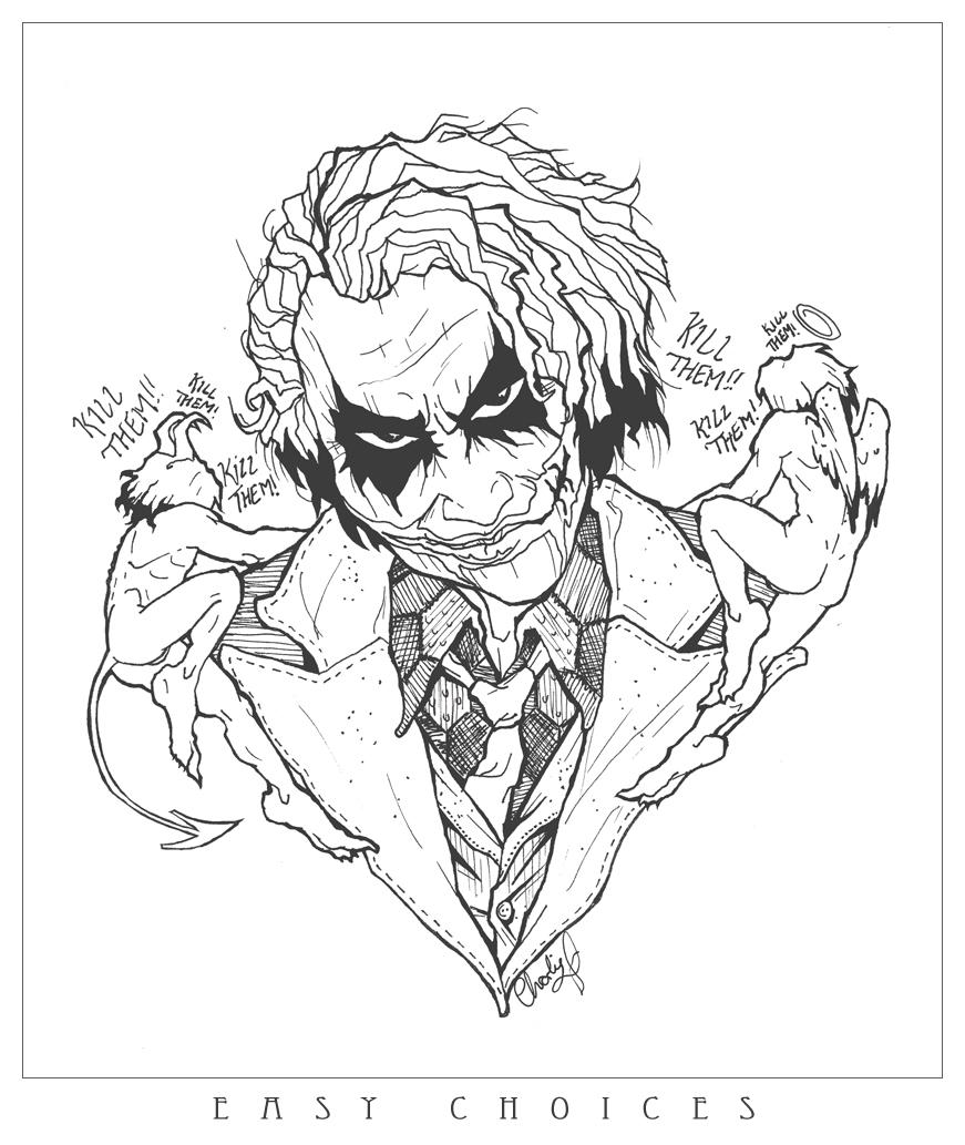 Simple Joker Drawing At Getdrawings Com Free For Personal