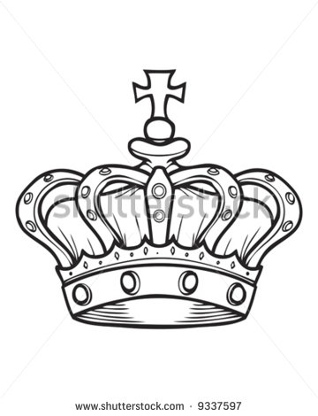 Simple King Crown Drawing