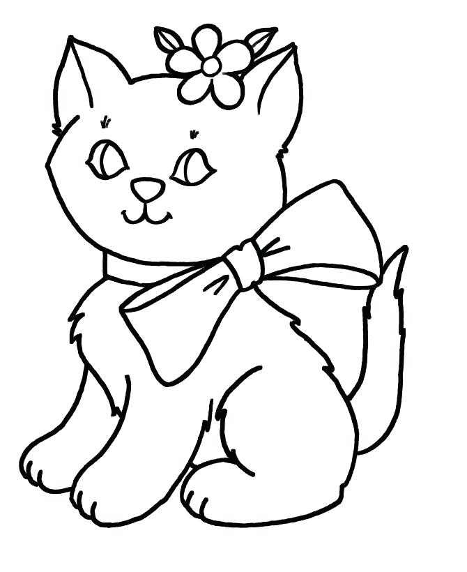 670x820 Kitten Color Pages Cute Kitten Coloring Pages Free Printable