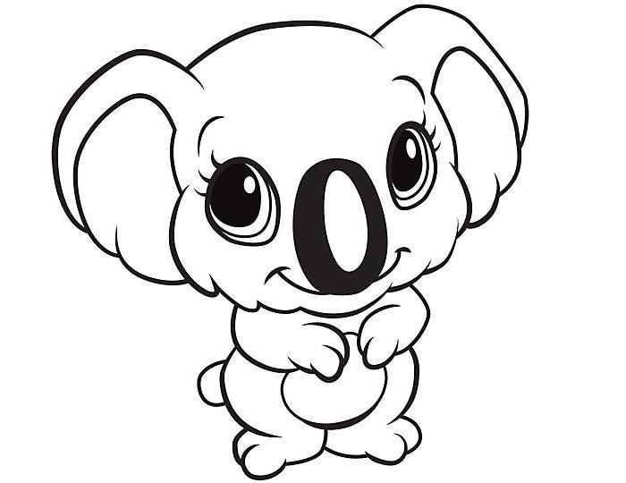 Simple Koala Drawing at GetDrawings | Free download