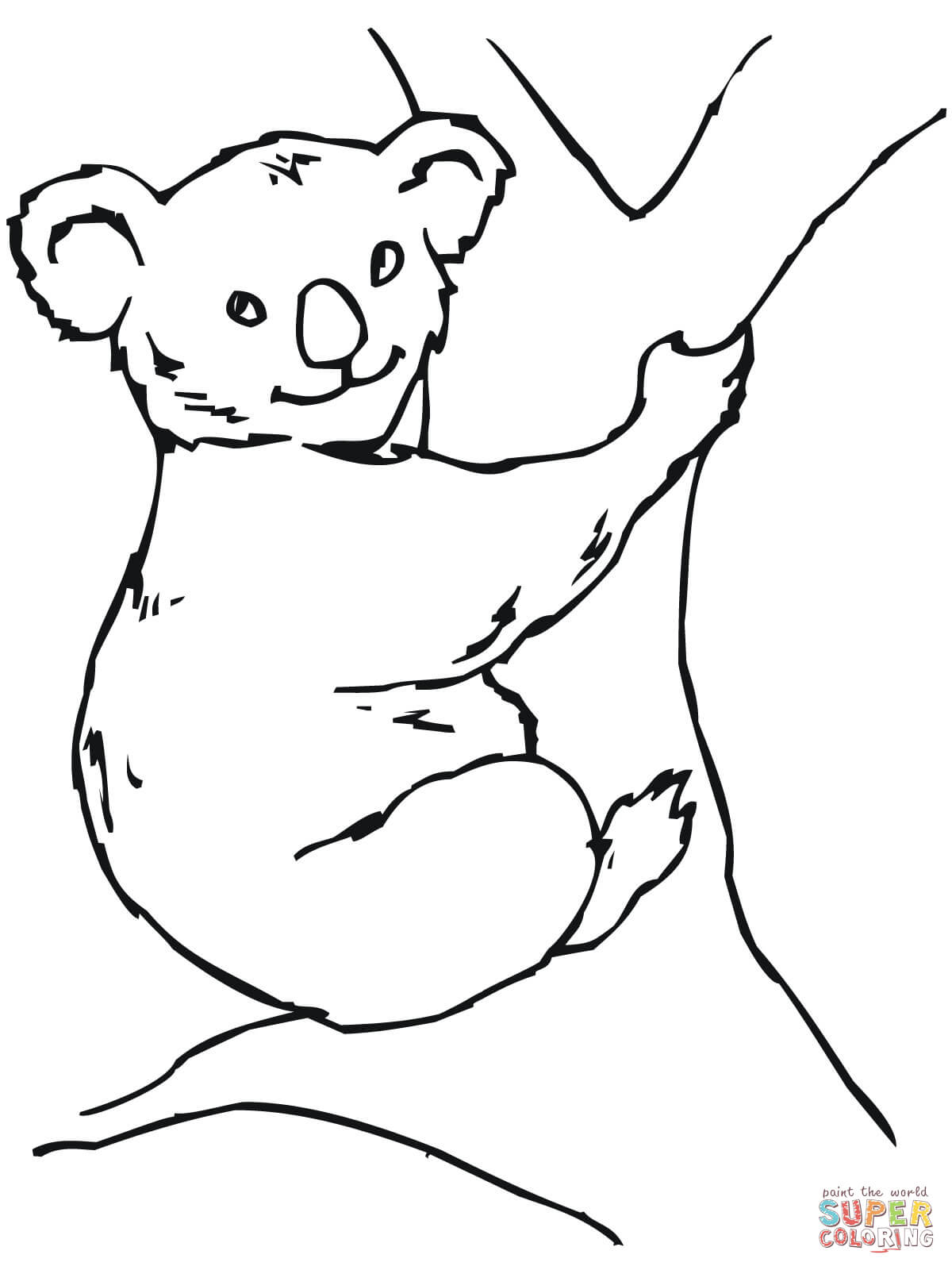 1200x1600 Koala Bear Coloring Page Free Printable Pages