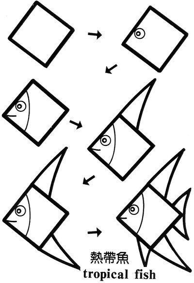400x582 Simple Fish Drawing
