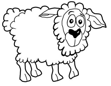 450x350 How To Draw Cartoon Sheep Lambs Farm Animals Step By Step