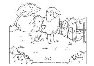 320x226 Sheep Colouring Pages