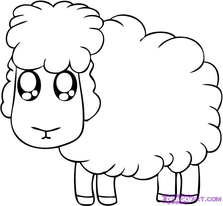 721x666 How To Draw A Cartoon Sheep Step 5 Vbs Cartoon