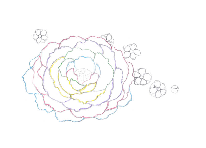 Simple Line Art Rose : Simple lavender drawing at getdrawings free for personal use