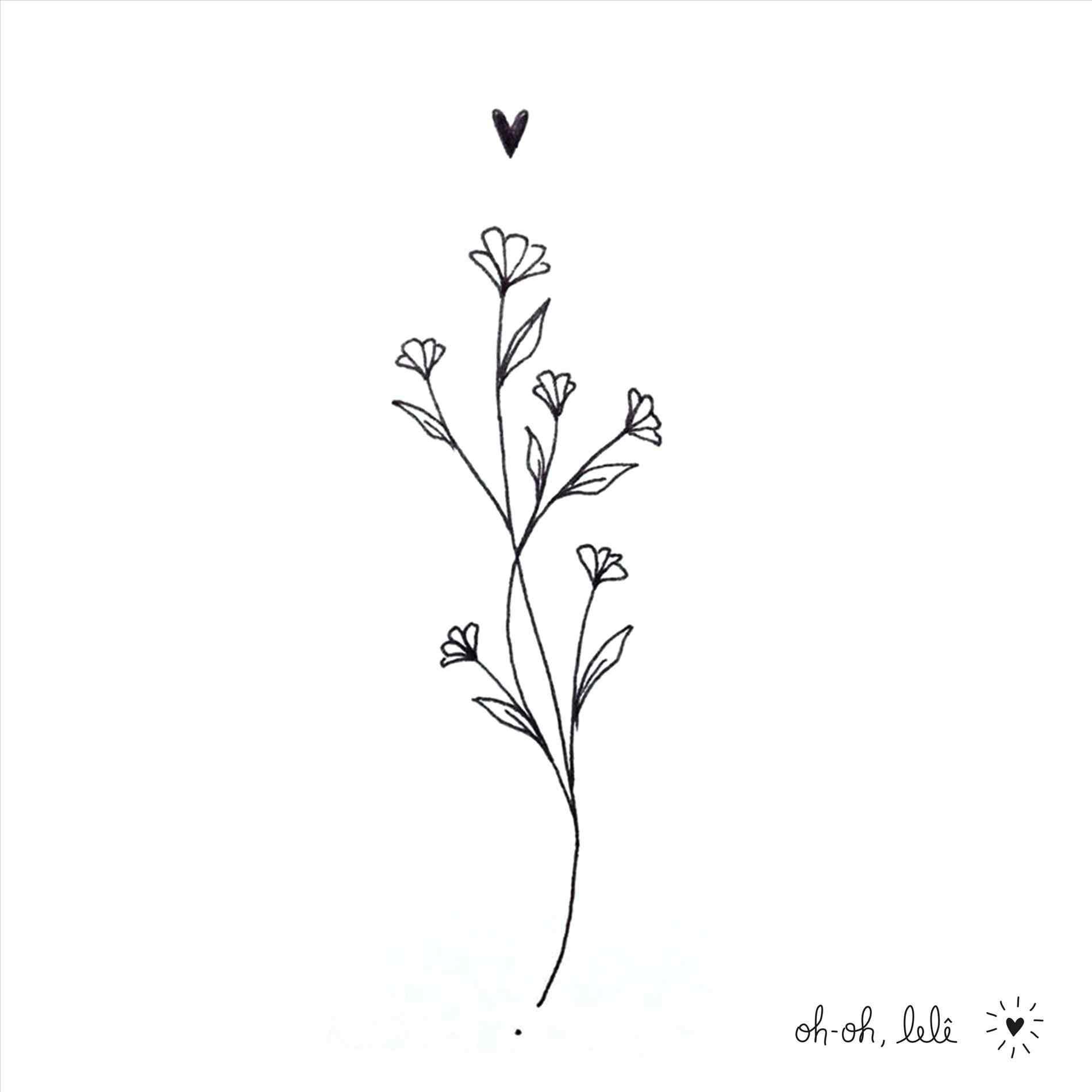 Simple Lavender Drawing