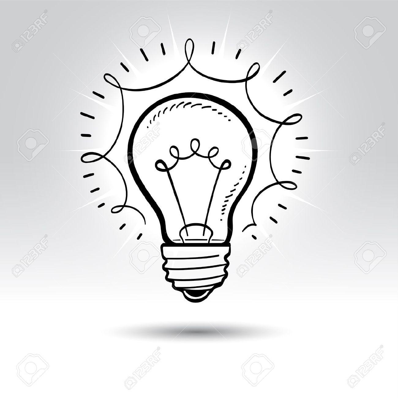 1300x1300 Drawing Of Light Bulb Drawn Lamps Light Bulb
