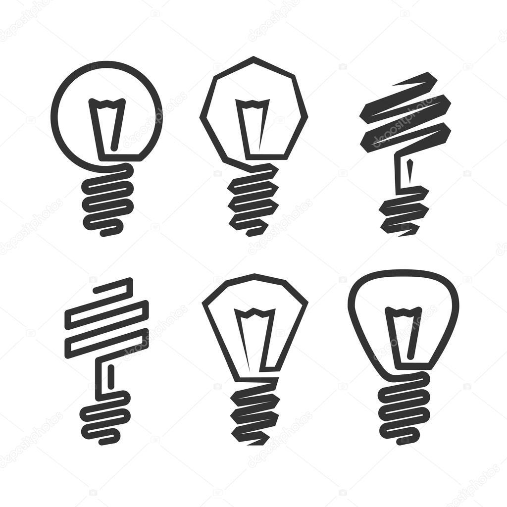 1024x1024 Abstract Light Bulb Icon Stock Vector Matc