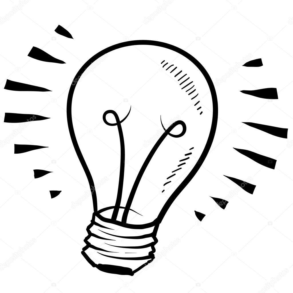 1024x1024 Light Bulb Or Idea Sketch Stock Vector Lhfgraphics
