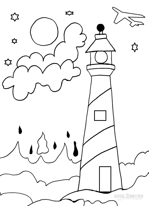 600x825 Lighthouse Coloring Pages
