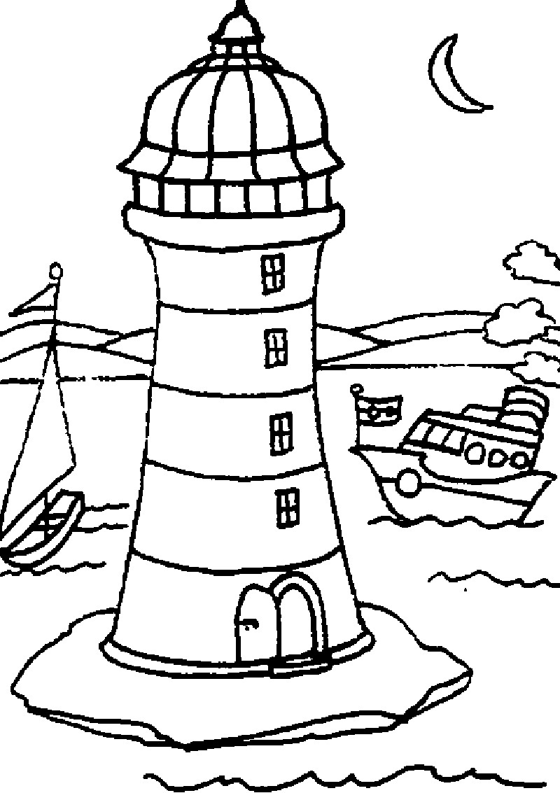 800x1133 Lighthouse Coloring Pages