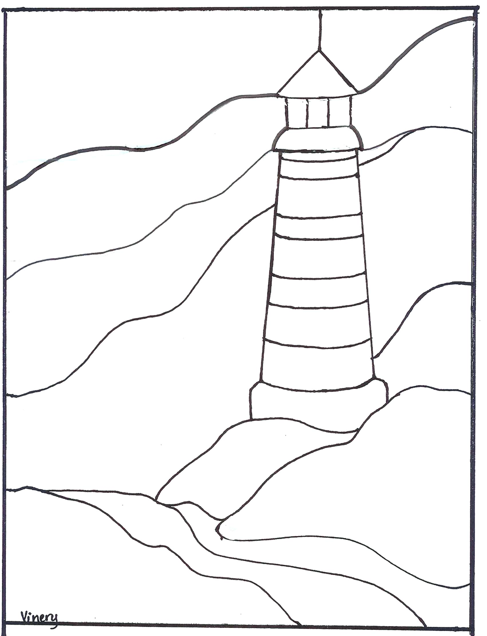 1701x2217 Lighthouse Stained Glass Patterns Simple Stained Glass Patterns