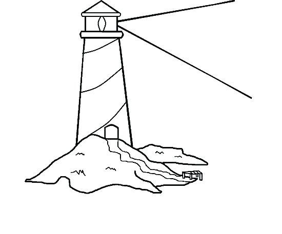 550x457 Simple Lighthouse Coloring Pages New Printable Marvellous Sheet
