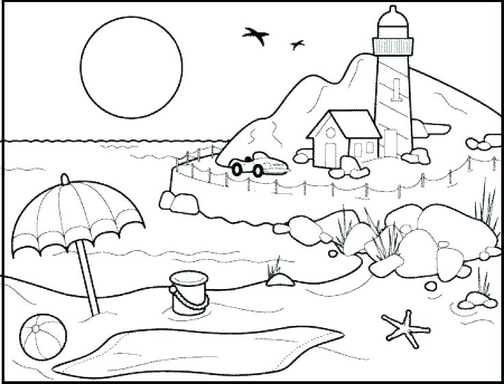 736x562 Lighthouse Coloring Page