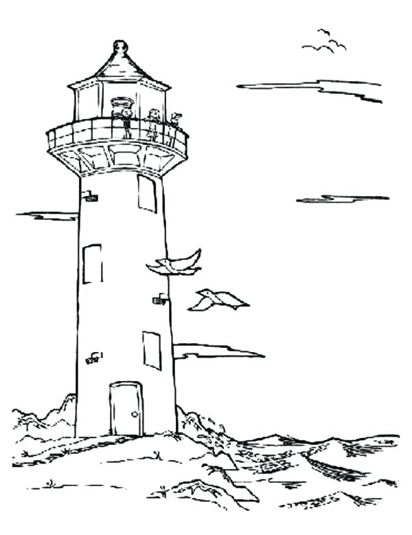 600x778 Lighthouse Coloring Pages Media