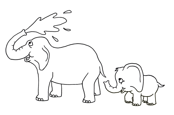 725x477 Baby Elephant Drawing For Kids. How Tot Draw An Elephant. Elephant